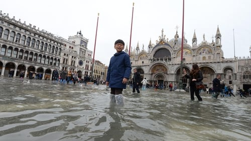Venice is due to have high water of 160cm just after midday today