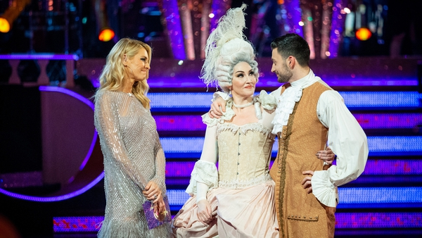 """Michelle Visage with dance partner Giovanni Pernice and host Tess Daly - """"This whole experience has been amazing"""""""