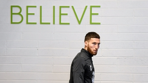 Matt Doherty does some gym work ahead of the Denmark showdown