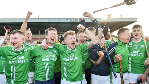 St Mullins players celebrate a landmark semi-final victory