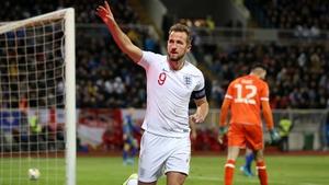 England's Harry Kane celebrates