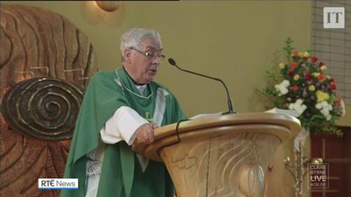 Fr Oliver O'Reilly delivered the homily on the QIH attacks last September