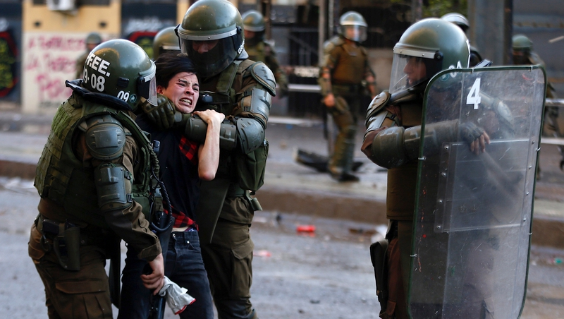 Chile president condemns police abuses during protests