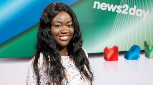 Zainab Boladale started work in RTÉ in 2017 on News2Day