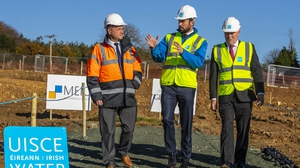 (L-R) Wexford County Council CEO Tom Enright, Minister Eoghan Murphy and Irish Water Head of Asset Operations Michael O'Leary