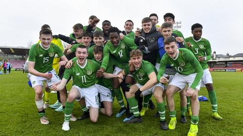 The Ireland team celebrate
