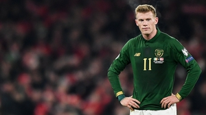 Derry-born James McClean after the Republic of Ireland's Euro 2020 qualifier against Denmark in Dublin in November 2019. Photo: Seb Daly/Sportsfile via Getty Images