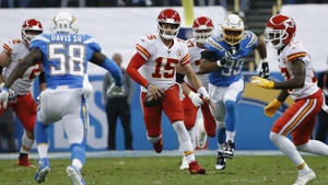 Patrick Mahomes rushed for 59 yards on five carries for the Kansas City Chiefs