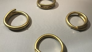 The rings were found during drainage works in east Donegal