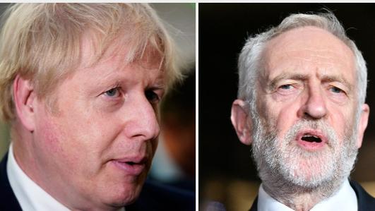 UK Labour Party leader Jeremy Corbyn critical of Boris Johnson Brexit border claim