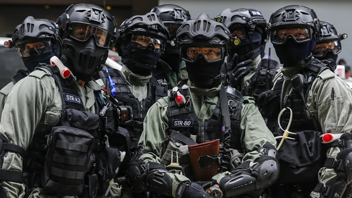 Senators also approved a measure that would ban the sale of munitions to Hong Kong security forces