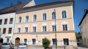 The house where Adolf Hitler was born in the Austrian town of Braunau am Inn