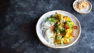 Vietnamese Turmeric & Dill Fish With Rice Noodles