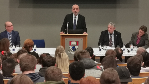 Central Bank Governor Gabriel Makhlouf made his first public speech at the Waterford Institute of Technology today