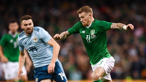 Ireland will be hoping James McClean can return to fitness quickly