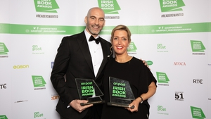 Winners Richie Sadlier and Vicky Phelan pictured at the An Post Irish Book Awards