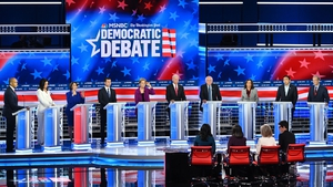 The ten candidates took part in the fifth debate in the Democratic race