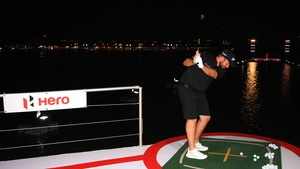Shane Lowry is in action at the DP World Tour Championship