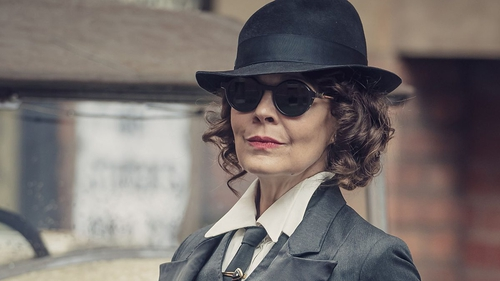 """Helen McCrory as Polly Gray in Peaky Blinders: """"she dresses to kill (no pun intended) and makes the viewers rethink the term power dressing, all of this contributing to her iconic character."""""""