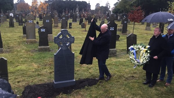 The ceremony took place at Glasnevin Cemetery in Dublin
