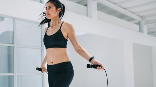 Want to burn belly fat? Get skipping. Photo: Getty