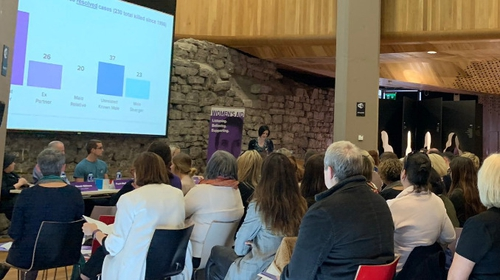 Kathleen Chada told the Women's Aid Conference that there is a lack of official support for victims of domestic violence