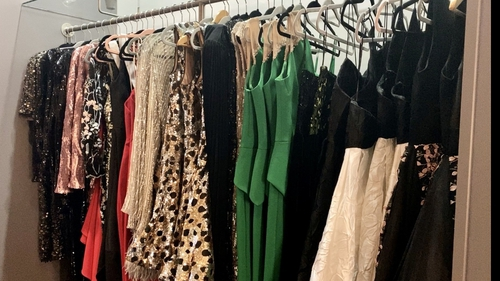 Some of the garments available to rent at The Ivory Closet, Limerick