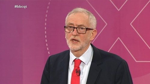 Jeremy Corbyn was questioned during a special episode of BBC's Question Time (Pics: BBC)