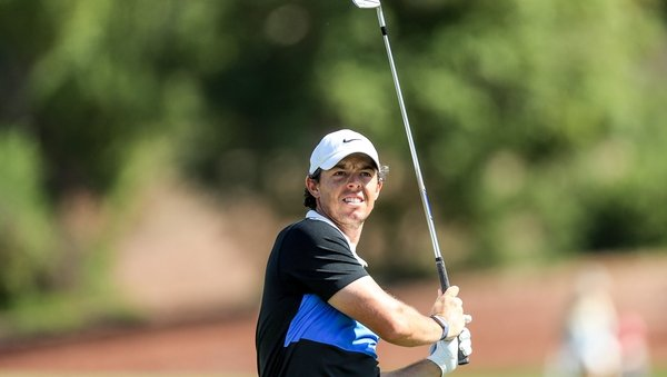 Rory McIlroy is two strokes off the lead in Dubai