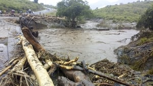 Rescue efforts have been delayed as roads have been cut off