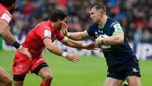 Matt Healy on the charge for Connacht