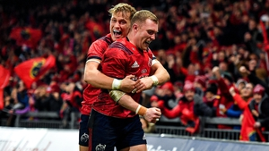Keith Earls was Munster's first-half try scorer at Thomon Park