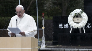 Francis was speaking at Nagasaki's Atomic Bomb Hypocentre Park, ground zero of the bomb the US dropped on 9 August 1945