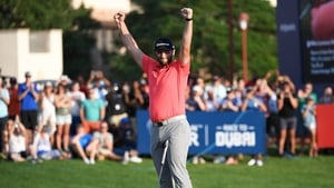 Jon Rahm after sinking the clinching putt