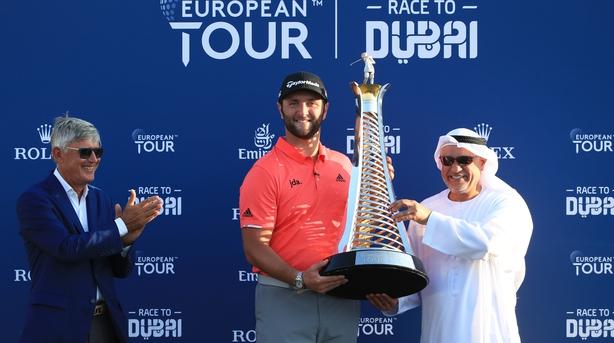 Rahm resists Fleetwood surge to win Race to Dubai