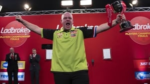 Van Gerwen had landed a nine-darter against Adrian Lewis