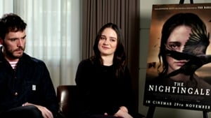 Aisling Franciosi with The Nightingale co-star Sam Claflin