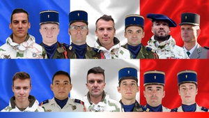 The French Department of Defence issued images of the soldiers who died