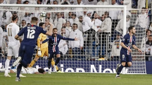 Pablo Sarabia celebrates his late equaliser