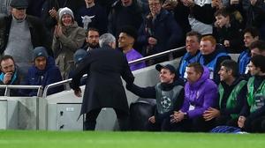 Jose Mourinho was effusive in his praise of ballboy Callum Hynes