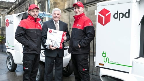 Des Travers, CEO of DPD Ireland, and DPD drivers Tom Searle and Francis Bradley are preparing themselves for a very busy Black Friday