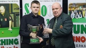 Ross Bulman (L) Pic: Cork Billiards and Snooker Association (Facebook)