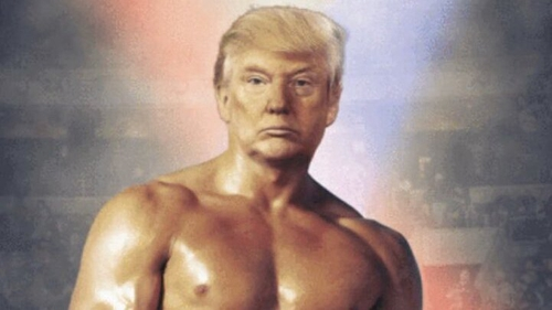 Donald Trump tweets freaky photo of himself as Rocky
