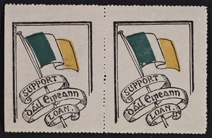 First Dáil Loan stamps, 1919. Image courtesy of the National Library of Ireland