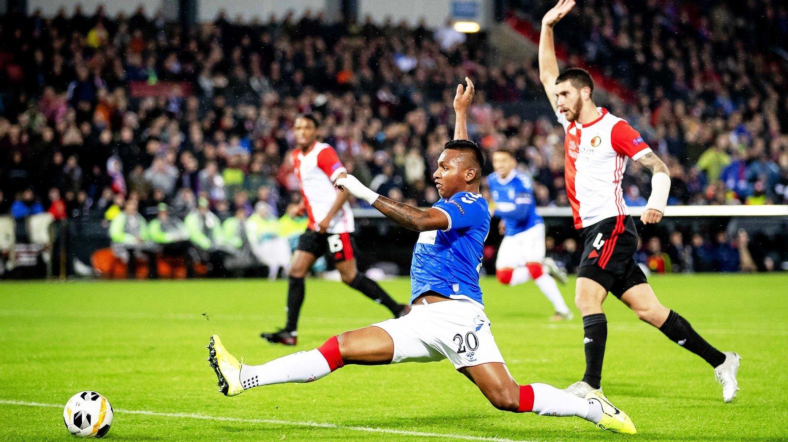 Morelos sets Rangers record in draw against Feyenoord