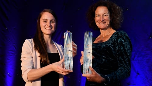 Athlete of the Year Ciara Mageean (L) and Hall of Fame winner Sonia O'Sullivan