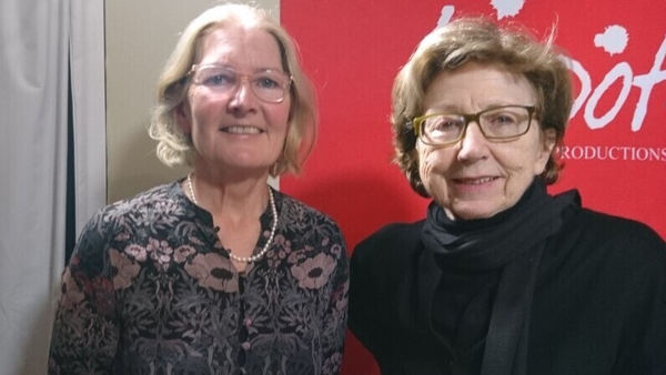 Poet Catherine Phil MacCarthy with Poetry Programme host Olivia O Leary