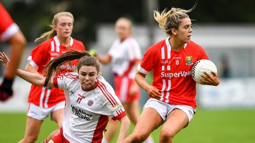 Maire O'Callaghan in the red of Cork