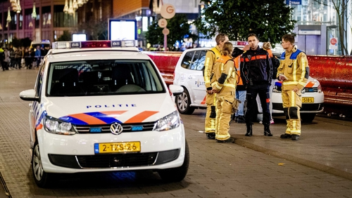 The male attacker ran off after the stabbings at a department store in the city centre's Grote Marktstraat, The Hague's main shopping area