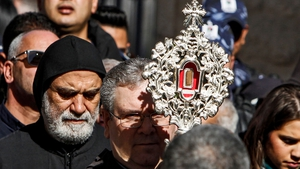 The relic was placed in Saint Catherine's Church, at the Church of the Nativity compound